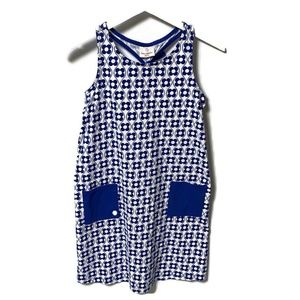 Hanna Andersson Blue Floral Racerback Dress Sz 12